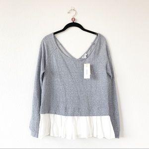 Chelsea Sky Macy's Blue Gray Layered Look Sweater